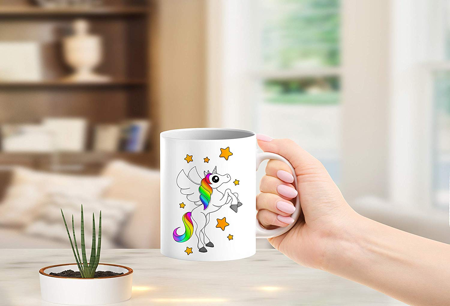 Heat Sensitive Color Changing Coffee Mug Funny Coffee Cup White Unicorn Design Funny Gift Idea B07D21VPWS 6