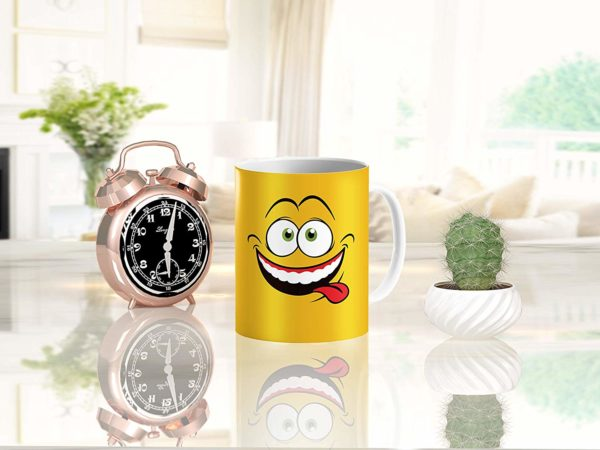 Heat Sensitive Color Changing Coffee Mug Funny Coffee Cup Yellow Drunk Funny Face Design Funny Gift Idea B079FWN7ZQ 6