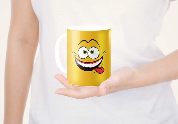 Heat Sensitive Color Changing Coffee Mug Funny Coffee Cup Yellow Drunk Funny Face Design Funny Gift Idea B079FWN7ZQ 7