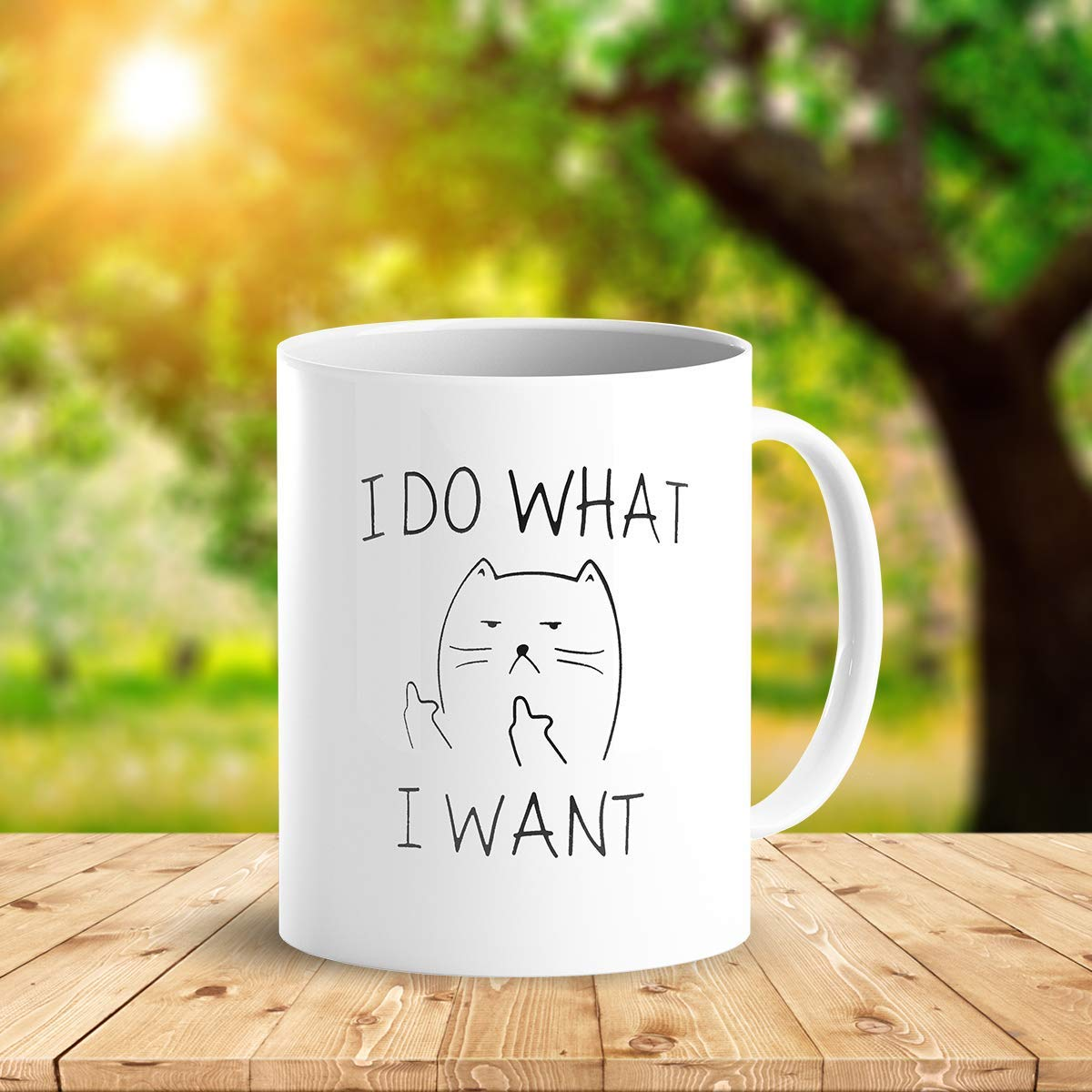 I Do What I Want Funny Coffee Mug Cat Middle Finger 11 Oz Birthday Gift For Men Women Him Or Her B079FX31TX 4