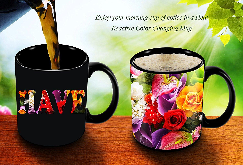 Magic Coffee Mugs Heat Sensitive Color Changing Coffee Mug