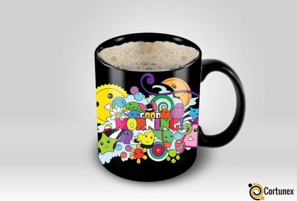 Magic Coffee Mugs Heat Sensitive Color Changing Coffee Mug Good Gift Mug Good Morning Crazy Design 11oz 100 Ceramic Bla B01MU61K6A 3