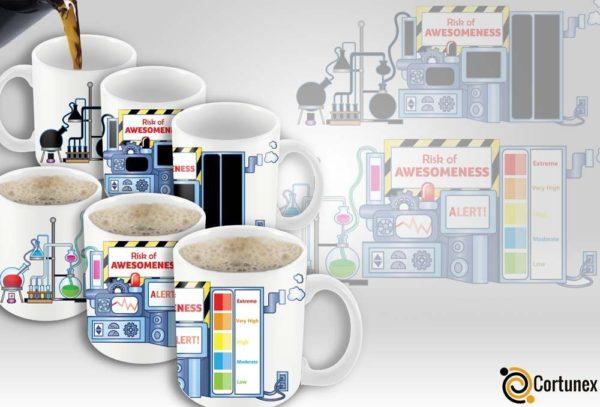 Magic Coffee Mugs Heat Sensitive Color Changing Coffee Mug Good Gift Mug Risk Of Awesomeness Design 11oz 100 Ceramic Bl B01NAO7MNB 2