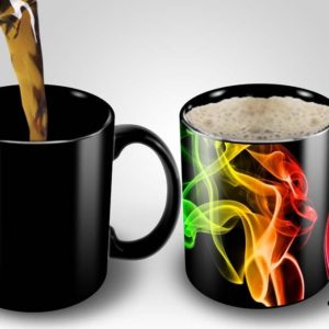 Magic Coffee Mugs Heat Sensitive Color Changing Coffee Mug Good Gift Mug Smoke Design 11oz Funny CoffeeTea Cup 100 B01MS2S8GC
