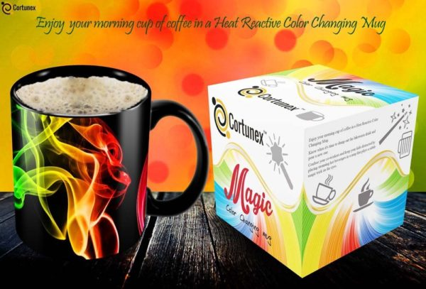 Magic Coffee Mugs Heat Sensitive Color Changing Coffee Mug Good Gift Mug Smoke Design 11oz Funny CoffeeTea Cup 100 B01MS2S8GC 2