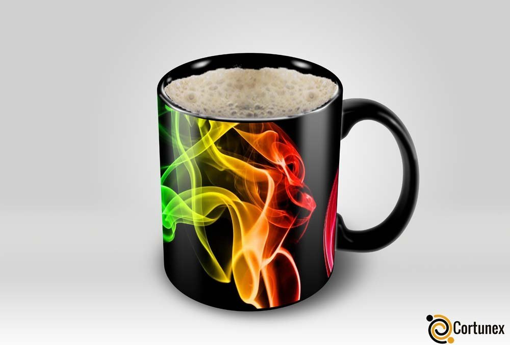 Magic Coffee Mugs Heat Sensitive Color Changing Coffee Mug Good Gift Mug Smoke Design 11oz Funny CoffeeTea Cup 100 B01MS2S8GC 5