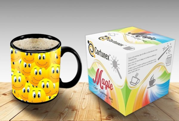 Magic Coffee Mugs Travel Mug Heat Sensitive Color Changing Stainless Steel Coffee Mug Good Gift Mug Funny Smiley Thermos B01MXRQDPU 2