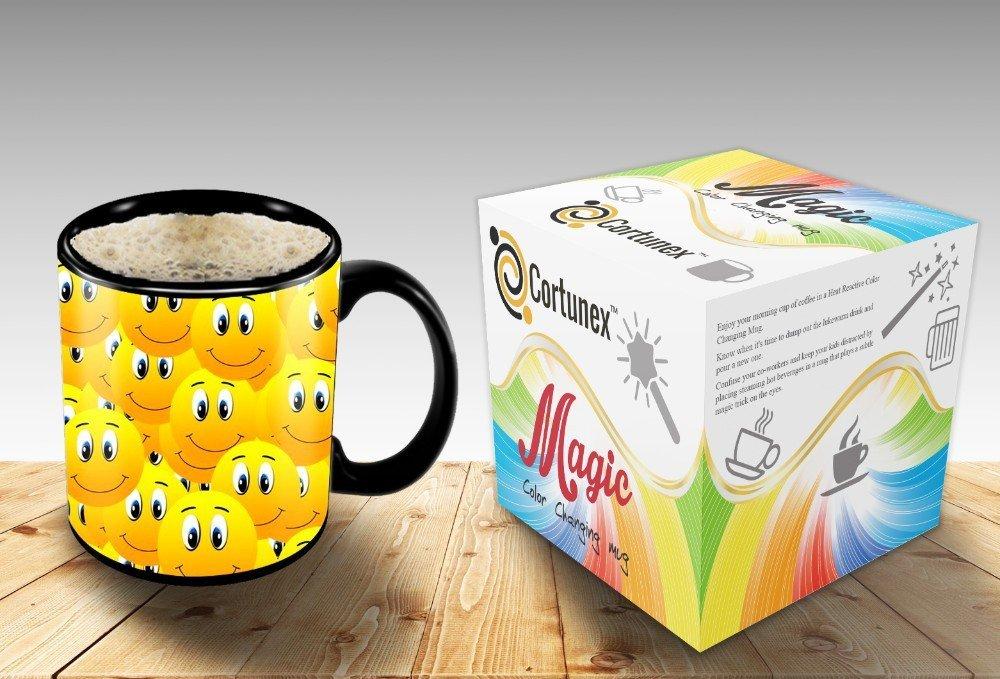 Magic Coffee Mugs Travel Mug Heat Sensitive Color Changing Stainless Steel Coffee Mug Good Gift Mug Funny Smiley Thermos B01MXRQDPU 2