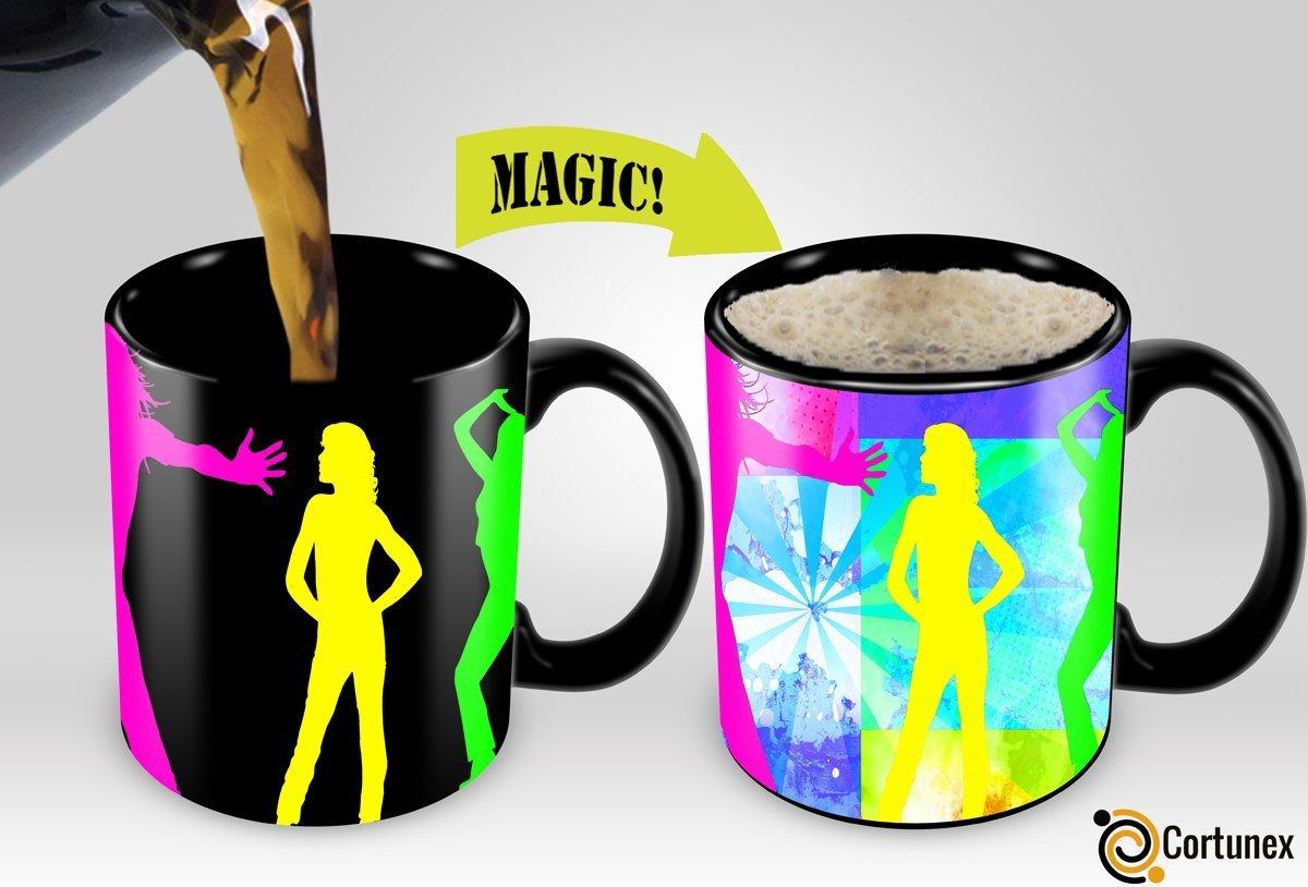 Magic Coffee Mugs Travel Mug Heat Sensitive Color Changing Stainless Steel Coffee Mug Good Gift Mug Funny Smiley Thermos B01MZYS145