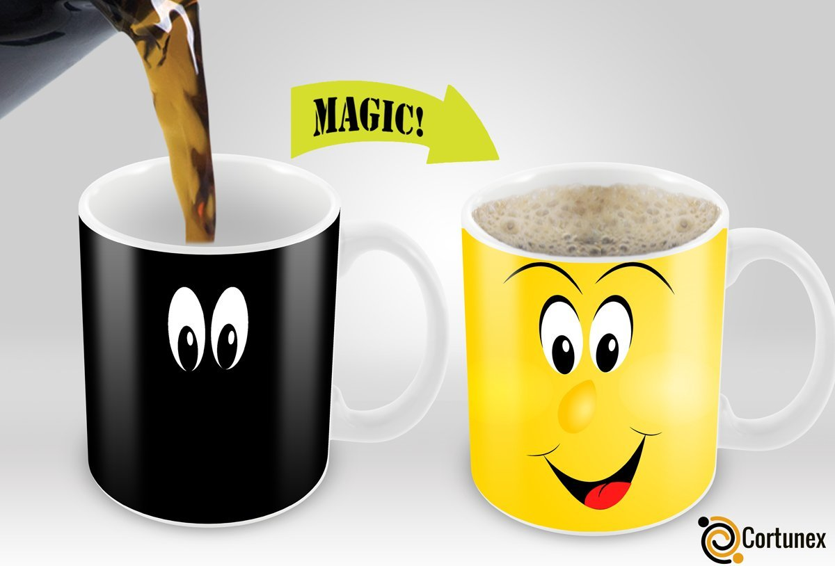 Variation 603161634413 Of Cortunex Yellow Wake Up Magic Mug Amazing New Heat Sensitive Color Changing Coffee Mug B01IPXRHFE 767