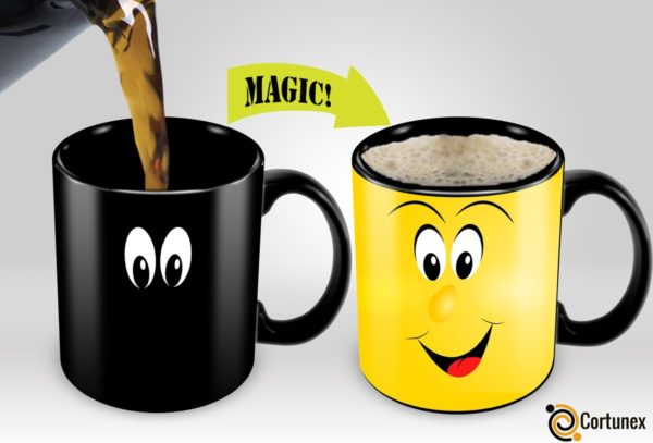 Variation 603161634420 Of Cortunex Yellow Wake Up Magic Mug Amazing New Heat Sensitive Color Changing Coffee Mug B01IPXRHFE 765