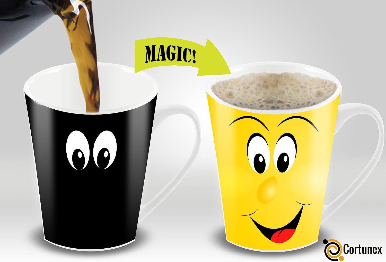 Variation 603161634437 Of Cortunex Yellow Wake Up Magic Mug Amazing New Heat Sensitive Color Changing Coffee Mug B01IPXRHFE 773