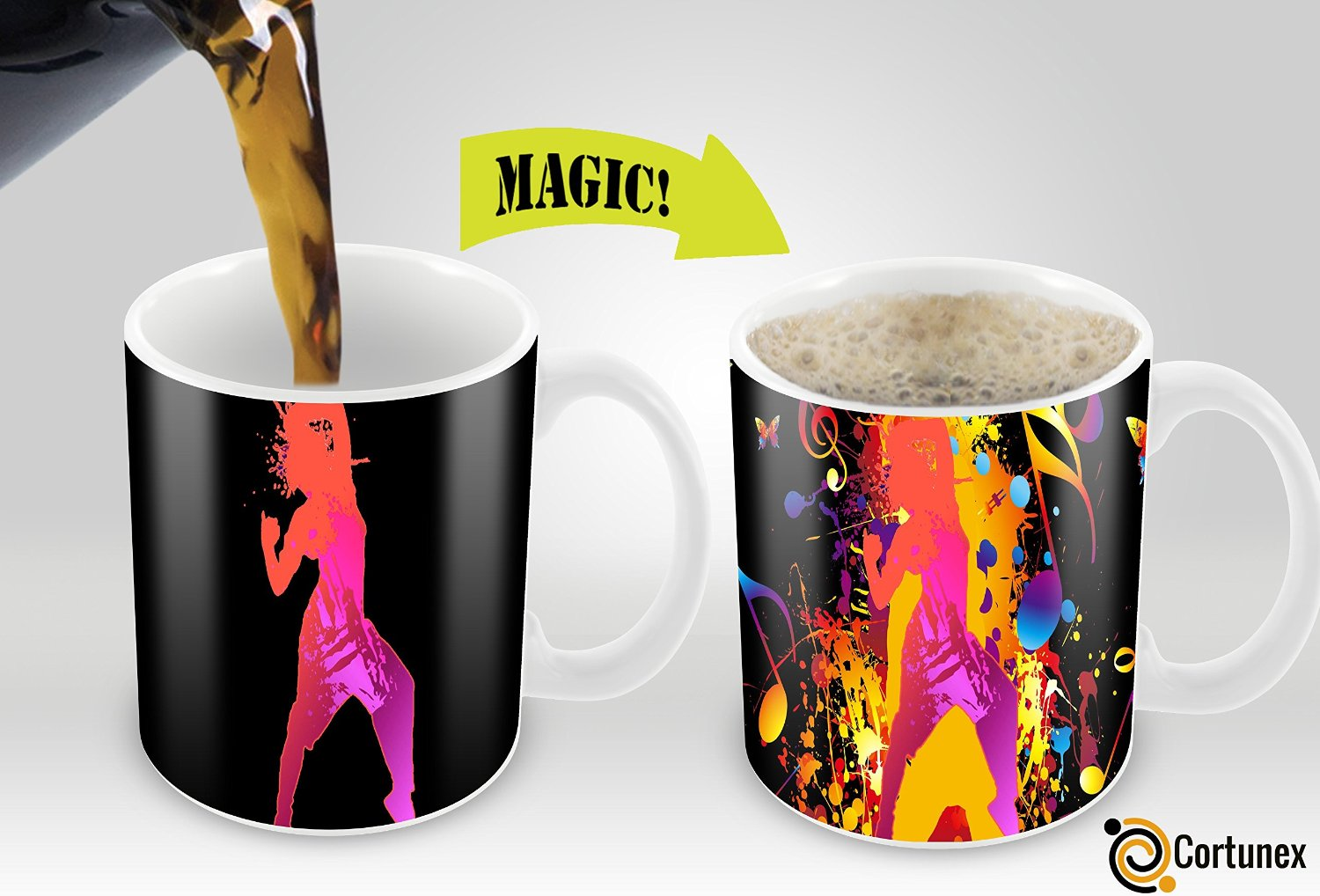 Cortunex magic mugs amazing new heat sensitive color Unique coffee cups mugs