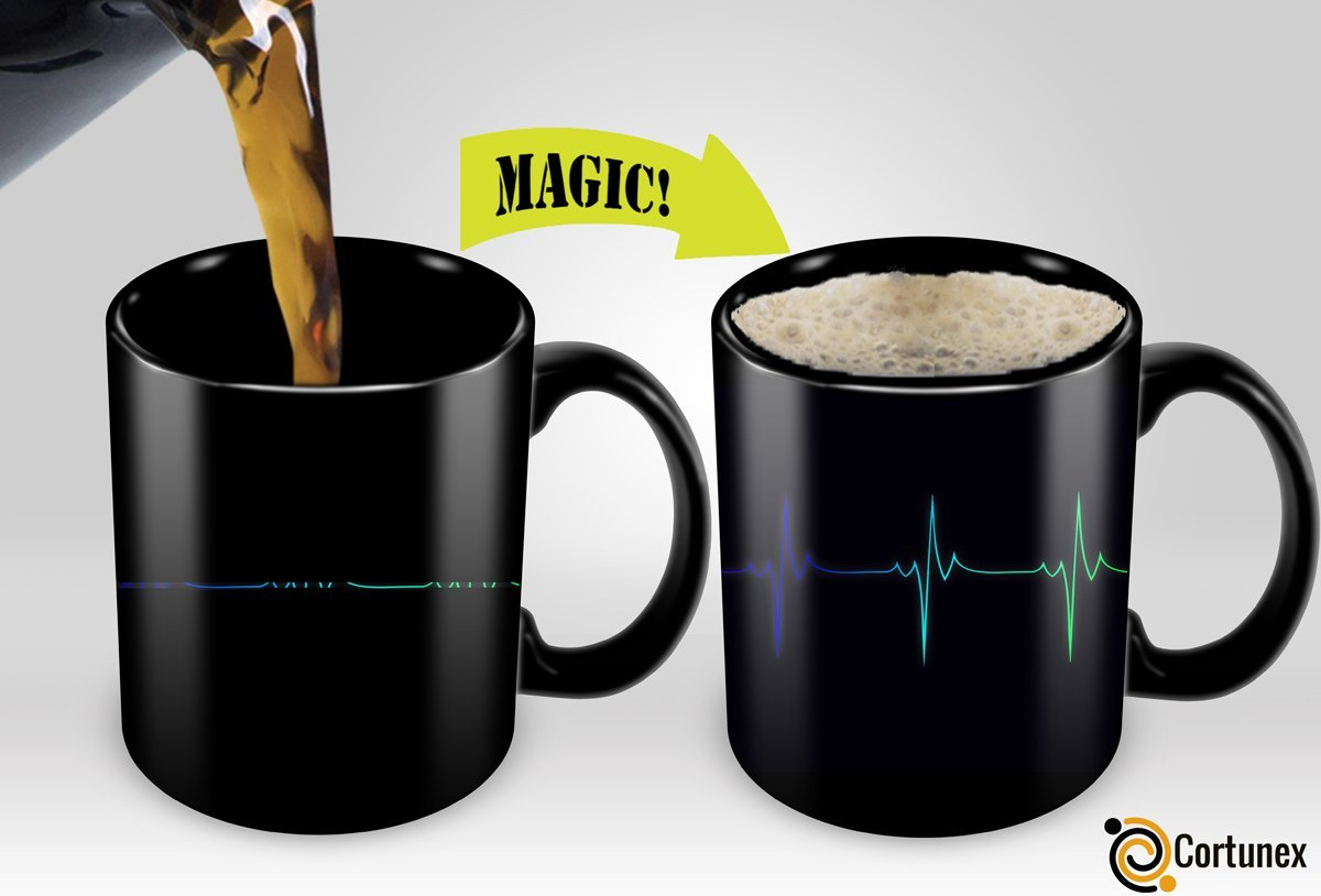 Cortunex Magic Mugs Amazing New Heat Sensitive Color Changing