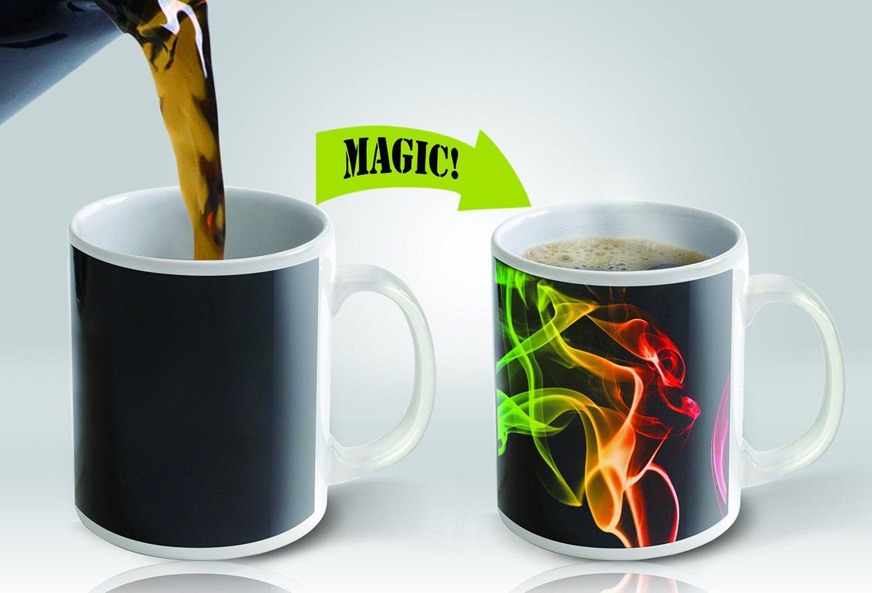 Magic coffee mugs travel mug heat sensitive color changing for Coffee mugs unique design