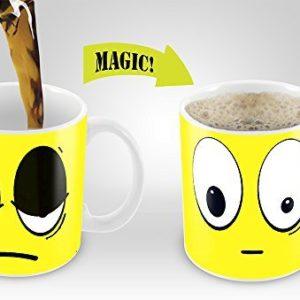 Yellow Wake Up Magic Mug | Amazing New Heat Sensitive Color Changing Coffee Mug , Good Unique Gift Idea | 11oz 100% Ceramic Mug